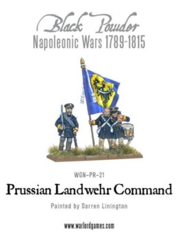 PRUSSIAN NAPOLEONIC LANDWEHR REGIMENTAL COMMAND Warlord Games Black Powder 28mm