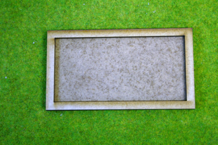 MDF laser cut MOVEMENT TRAY  for (4×1) 25mm x 50mm Cavalry Bases or (4×2) 25mm