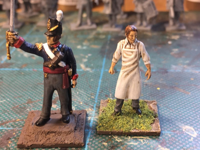 Foot Artillery Officer and Surgeon