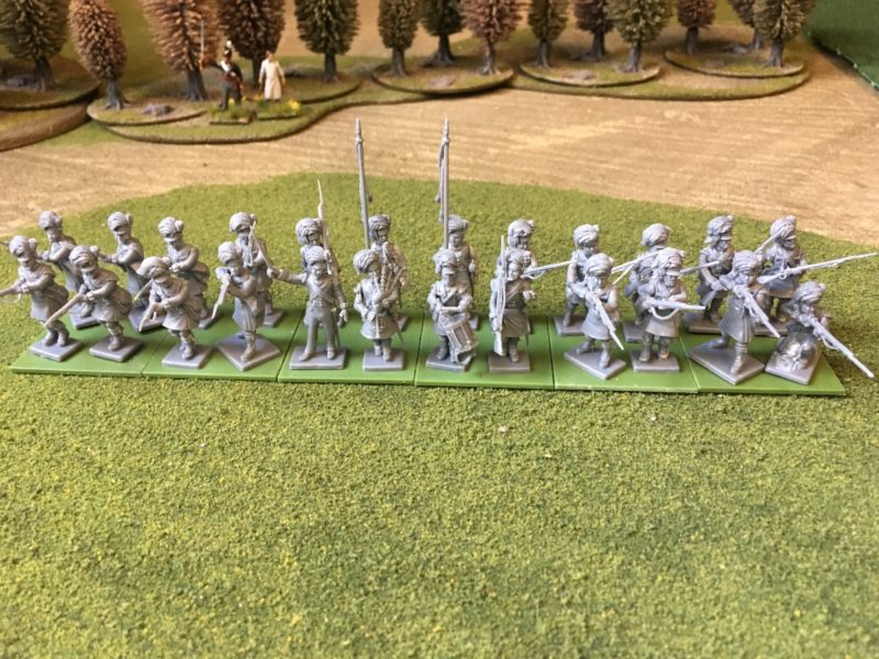 Victirx Highland Infantry assembled ready for painting.