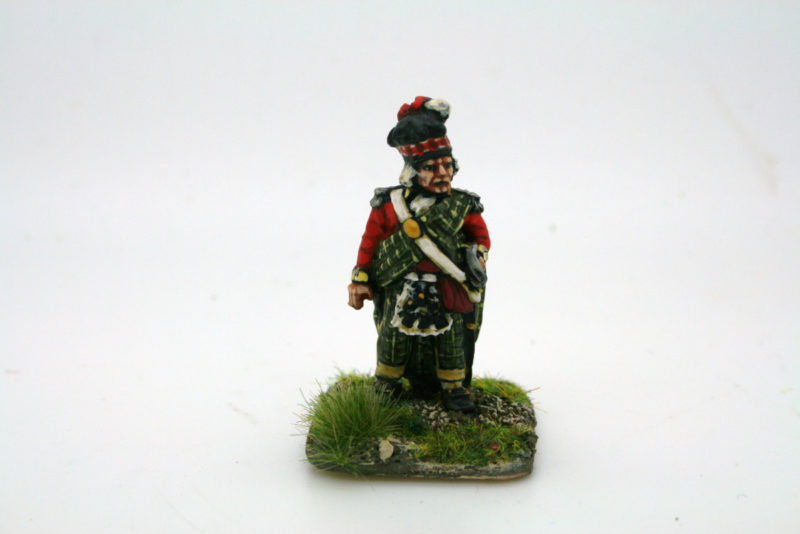 The painted version of Sir John Sinclair. from Trent miniatures