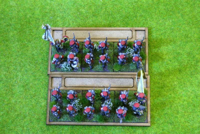 Battalion in column - simply reverse rear tray to form square!