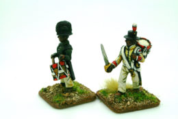 BLACK CHASSEUR DRUMMERS pack of 2 Trent Miniatures CAR27