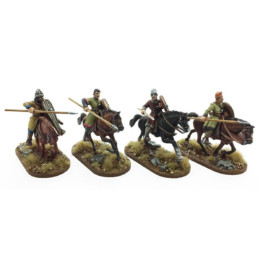Breton Cavalrymen thrusting underarm Footsore Miniatures SAGA NOR205