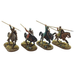 Breton Cavalrymen thrusting overarm Footsore Miniatures SAGA NOR204