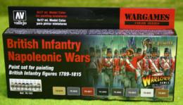 BRITISH INFANTRY NAPOLEONIC WARS COLOURS PAINTING SET Model Colour Warlord 8 bottle set
