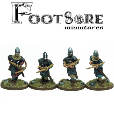 NORMAN ARMOURED CROSSBOWMEN Footsore Miniatures SAGA NOR108