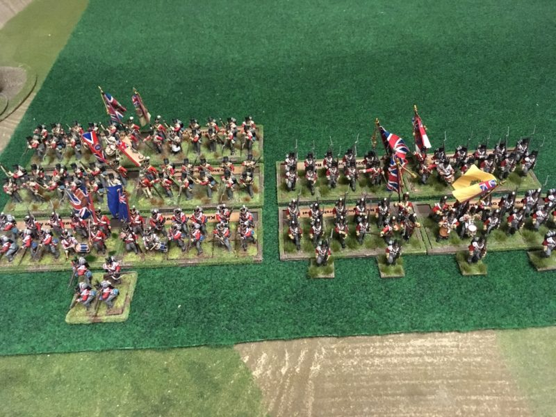 British Infantry Division labelled and ready for action.