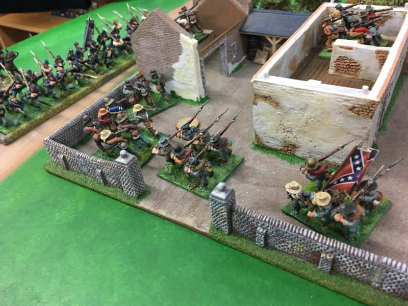 Confederates take position in the farm house