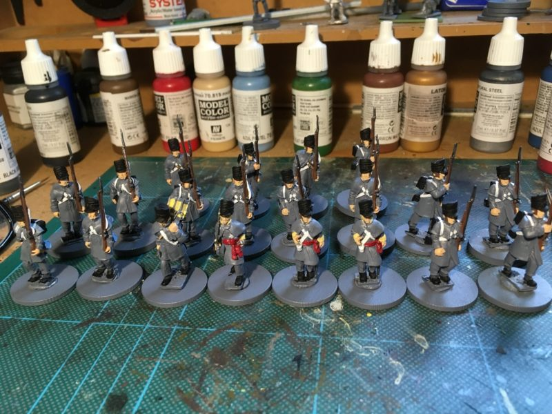 British Napoleonic Infantry in great coats - still a W.I.P.