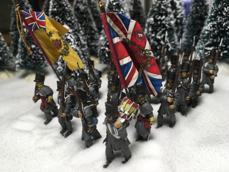 The 2/44th advance through the snow!