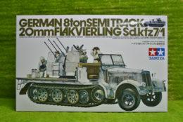 Tamiya GERMAN 8 TON SEMI TRACK 20mm FLAKVIERLING SDKFZ7/1 1/35 Scale Kit 35050