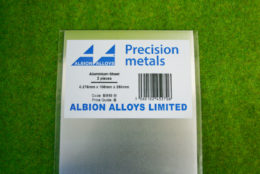 Albion Alloys SHEET ALUMINIUM 0.276mm x 100mm x 250mm SHEET SM10M