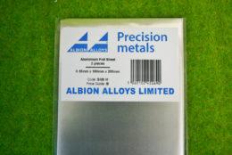 Albion Alloys SHEET ALUMINIUM 0.15mm x 100mm x 250mm SHEET SM9M