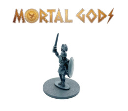 Greek Unarmoured Leader with Sword Raised – Mortal Gods 28mm LE002