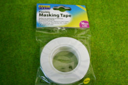 FLEXIBLE MASKING TAPE 10mm wide x 18m long pack Expo 44534