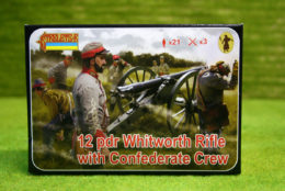 12 Pdr Whitworth Rifle with Confederate Crew 1/72 Scale Strelet 183
