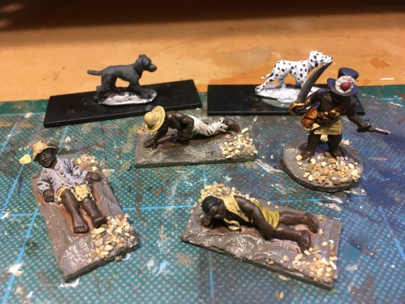 Caribbean casualties in progress - basing about finished.