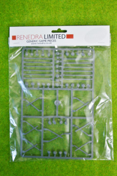 Fences – Cross & Rail Fencing ONLY Renedra Wargames Terrain 28mm