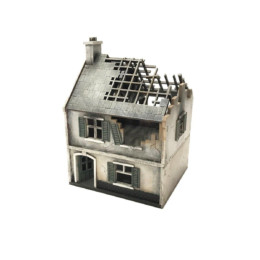 Europe DESTROYED SMALL HOUSE 20mm MDF Building Sarissa Precision N210