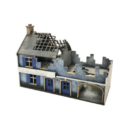 Europe DESTROYED LARGE FARMHOUSE 20mm MDF Building Sarissa Precision N220