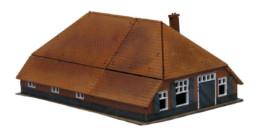 Dutch Farmhouse & Barn -20mm Laser cut MDF Building Terrain N273
