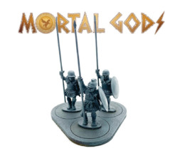 Armoured Hoplites with Plain Helms 1- Mortal Gods 28mm LE101