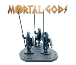 UNARMOURED Hoplites with Crested Helms 1- Mortal Gods 28mm LE102