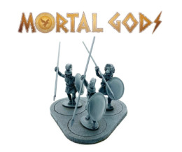 UNARMOURED Hoplites with Crested Helms 2- Mortal Gods 28mm LE103