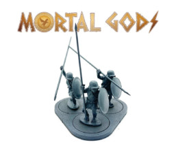 UNARMOURED Hoplites with Plain Helms 1- Mortal Gods 28mm LE104