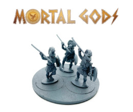 UNARMOURED Peltasts with Crested Helms 2- Mortal Gods 28mm LE107
