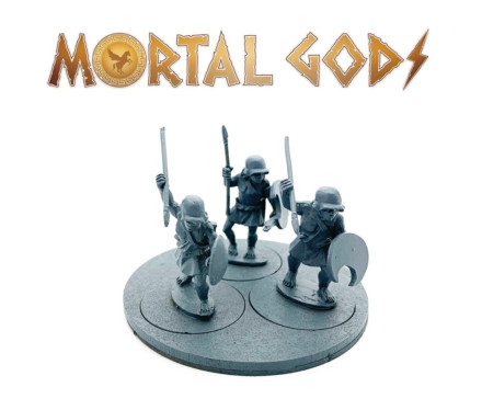UNARMOURED Peltasts with Plain Helms 1- Mortal Gods 28mm LE108