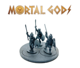 UNARMOURED Peltasts with Plain Helms 2- Mortal Gods 28mm LE109