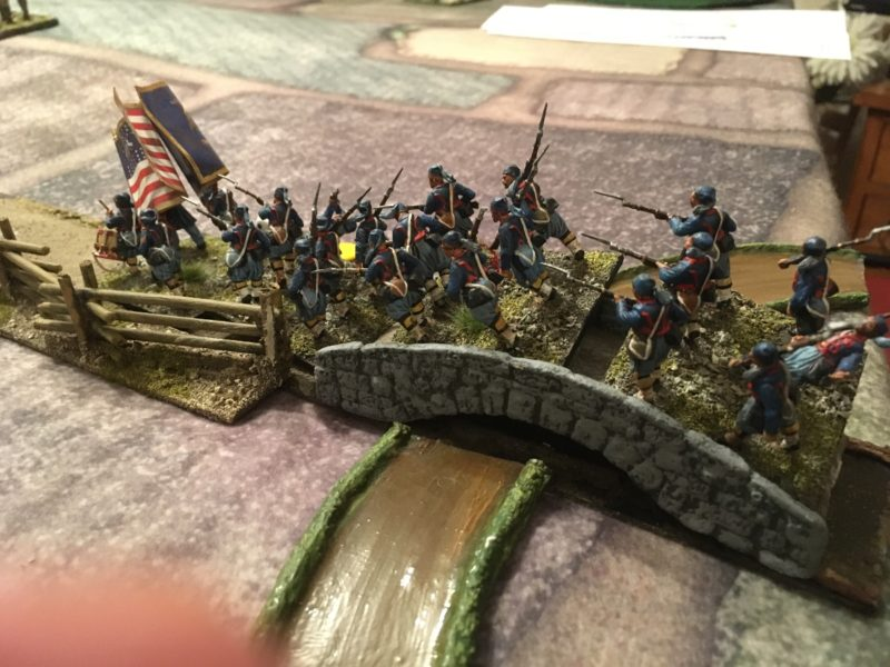 Union Deploy - the bridge slows the advance.