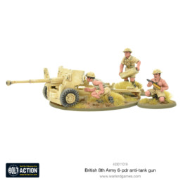 British 8th Army 6 Pounder ATG Bolt Action Warlord Games 28mm