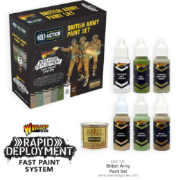 Bolt Action BRITISH PAINT SET Set Warlord Games