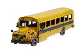Retro Americana School Bus 28mm Laser Cut MDF P022