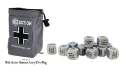 Bolt Action GERMAN Dice BAG and GREY DICE