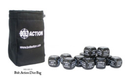 Bolt Action Dice BAG and BLACK DICE