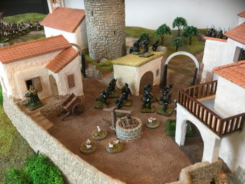 Rifles sneak into the village!