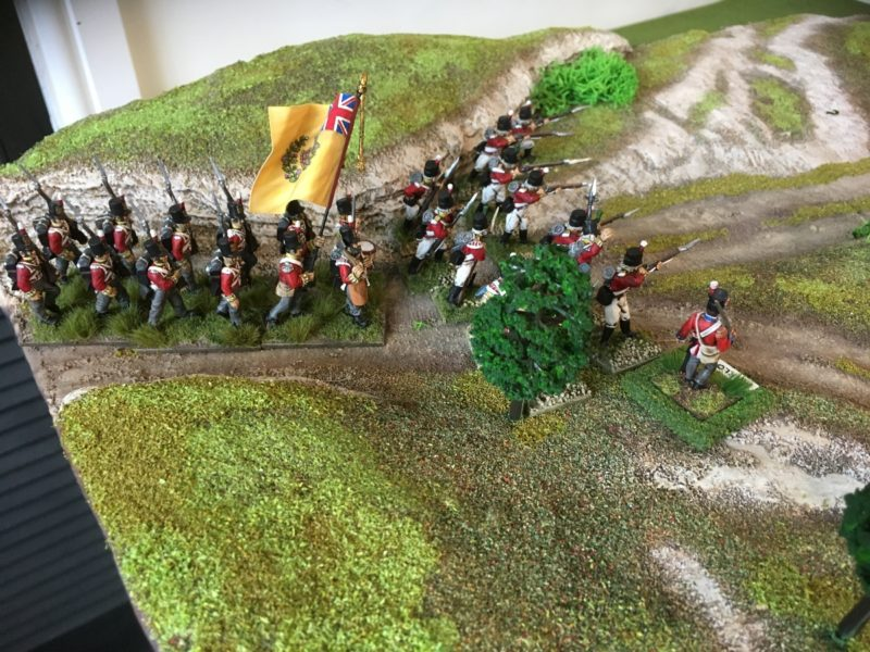 Marlow leads his troops onto the field of battle