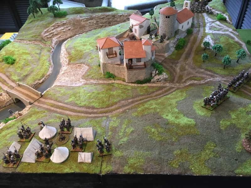 The French encampment - they are defending the wrong road!