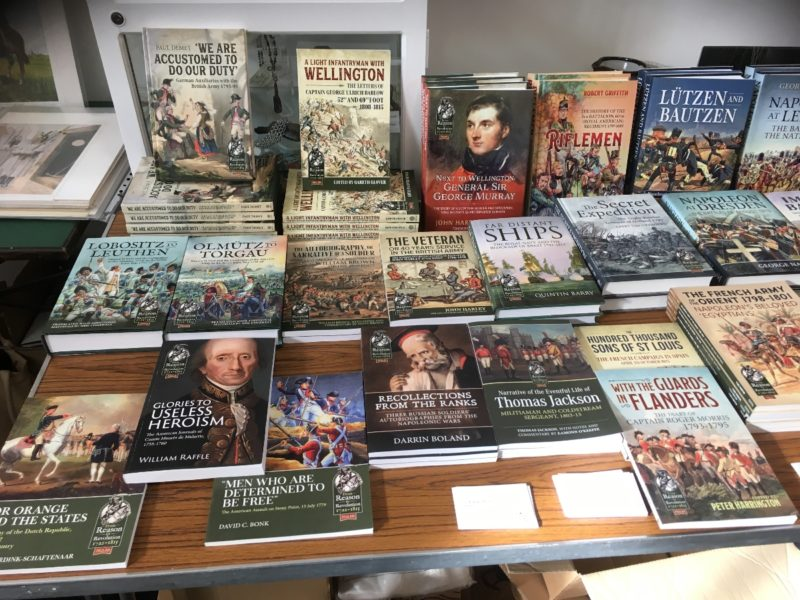 A good selection of Helion books available - as were some of the authors!
