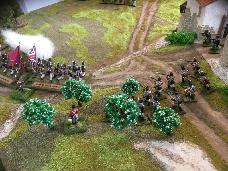 British Reinforcements push the French back up the hill