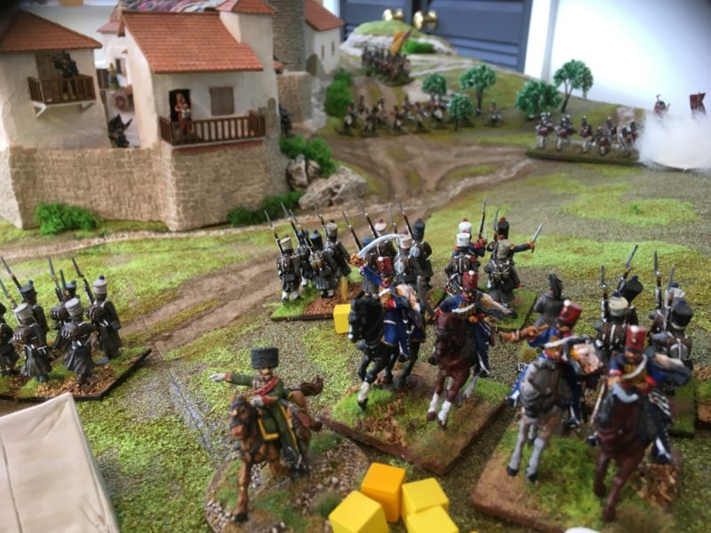Lt. Brie withdraws having mauled the British Infantry