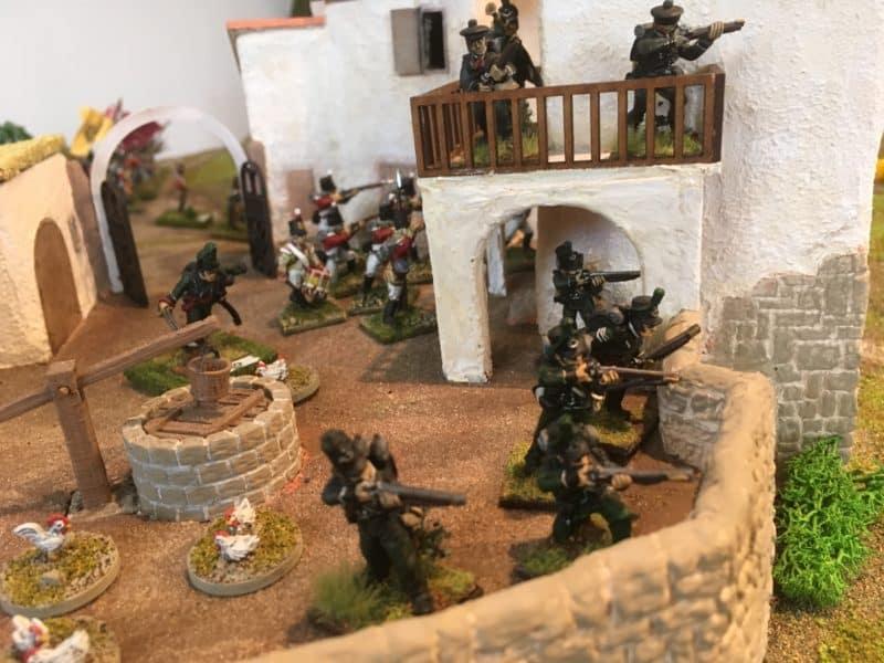 Light Infantry secure the village.