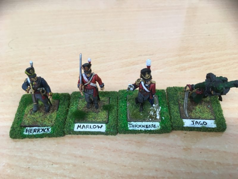 The British Officers are all Characters from 'The Hardest Fight' by Peter Youlds.