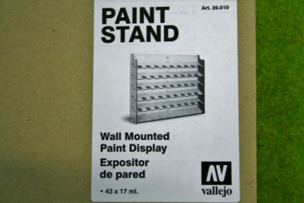 WALL MOUNTED PAINT STAND MDF Vallejo Acrylics 26010
