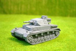 1/48 scale – 28mm WW2 GERMAN PANZER IV Ausf. E resin tank Blitzkrieg miniatures