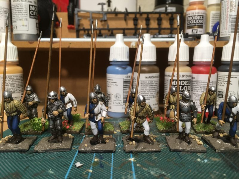 Pike men on the work bench close to being finished.